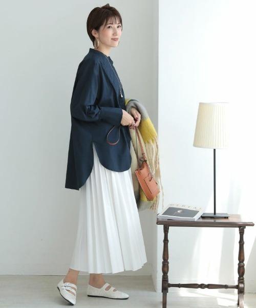 [DONOBAN] レザー風プリーツスカート