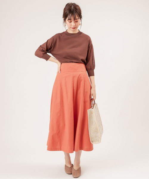 [natural couture] 袖シアーシンプルプチハイ