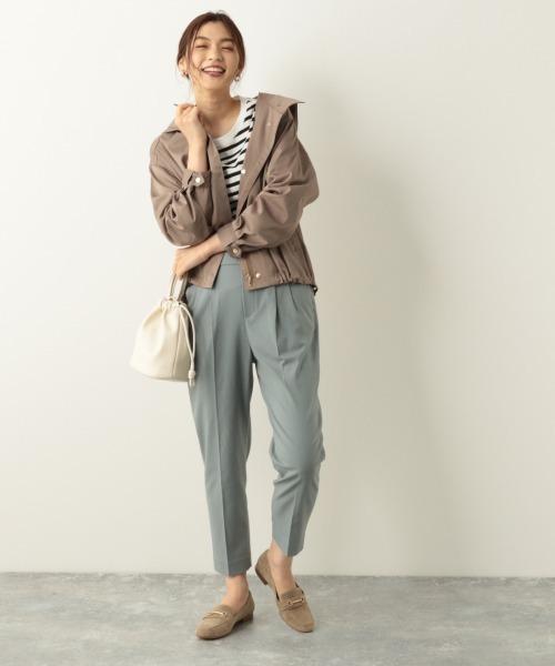 ファッションブルゾン×タックパンツ