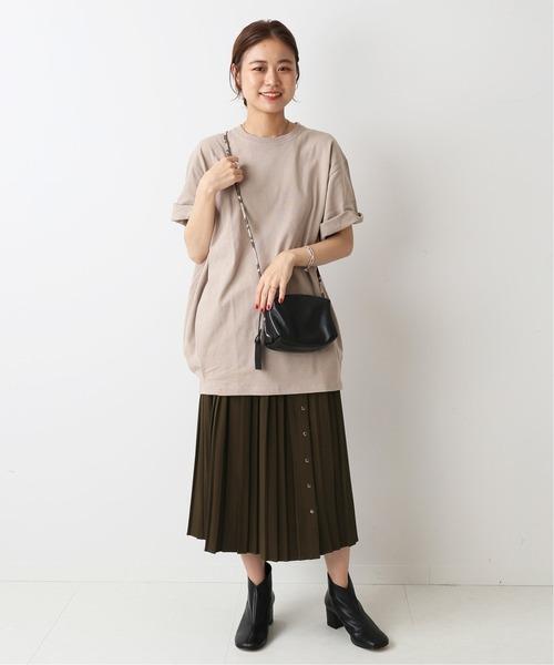 [JOURNAL STANDARD] オープンフロントプリーツスカート