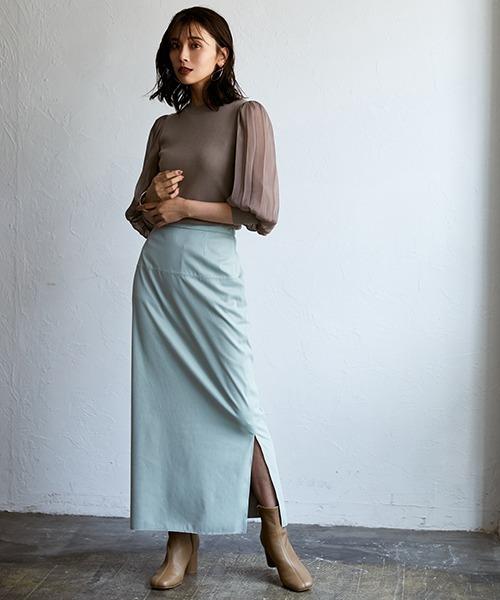 [FRAY I.D] サイドスリットスウェードスカート