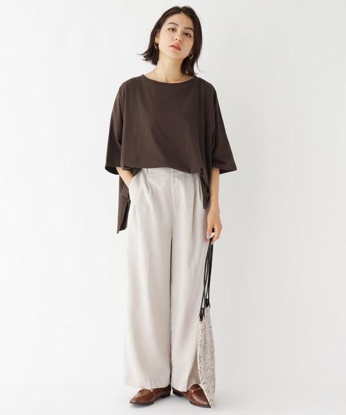 [OPAQUE.CLIP] コーマ天竺 ポンチョTシャツ