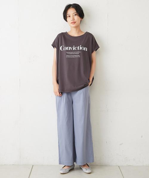 [Discoat] ビッグロゴフレンチTシャツ
