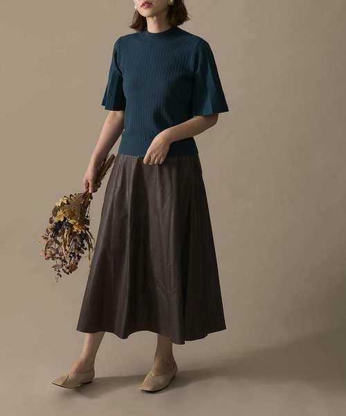 [URBAN RESEARCH ROSSO WOMEN] エコレザーフレアスカート