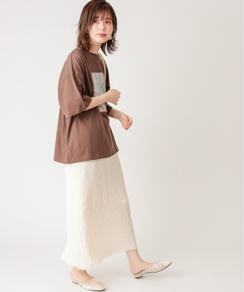 [natural couture] ぽこぽこIラインスカート