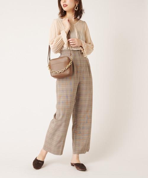 [natural couture] カラースラックスパンツ