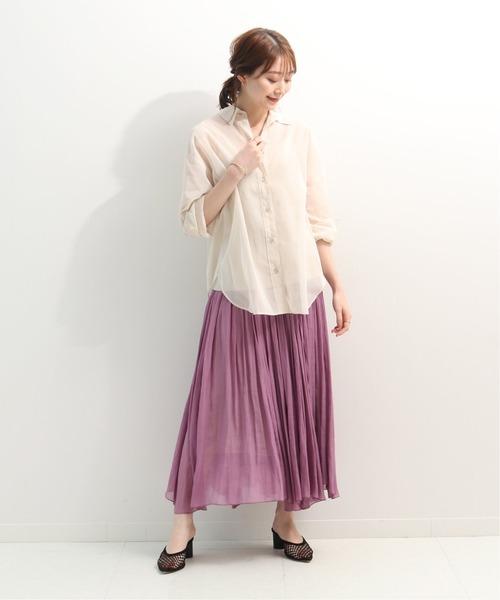 [Spick & Span] シースルーギャザースカート2◆