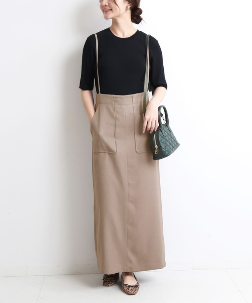 [IENA] ウーリッシュ ツイルキャミサロペットスカート【手洗い可能】◆