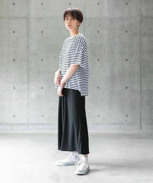 [koe] ボーダーオーバーサイズTシャツ*