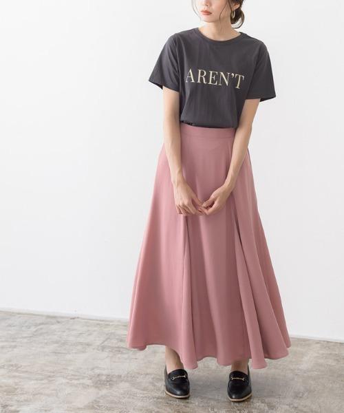 [Pierrot] 切り替えフレアスカート