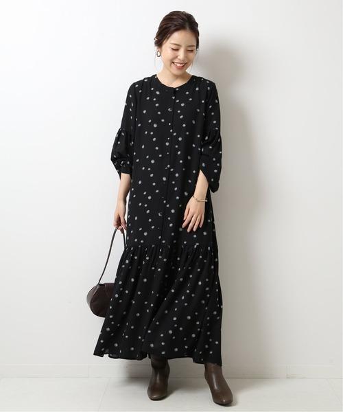 [Spick & Span] 【JUST】 別注フラワープリントドレス◆