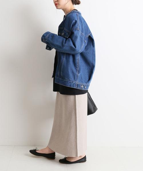 [IENA] ウォッシャブルスムースニットスカート【手洗い可能/ウエストゴム】◆