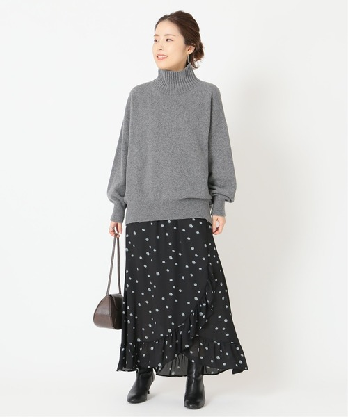 [Spick & Span] 【JUST】別注フラワープリントマキシスカート◆