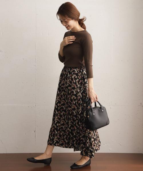 [URBAN RESEARCH DOORS] フラワープリントギャザースカート