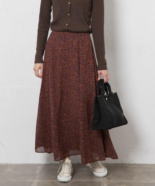 [URBAN RESEARCH] スモールフラワープリントスカート