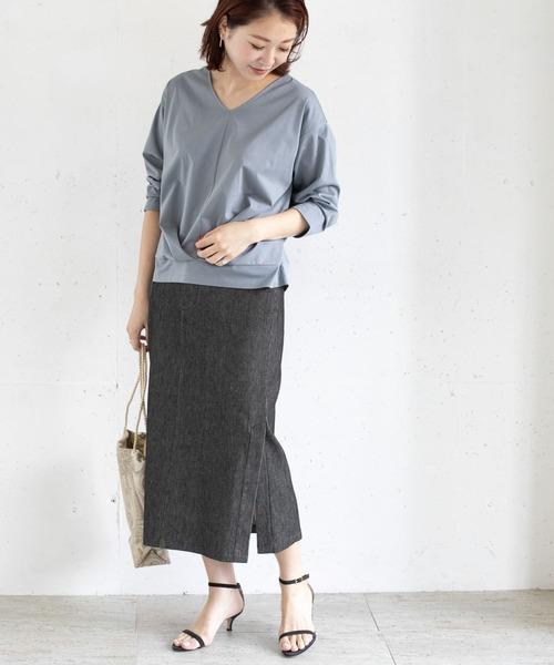 [URBAN RESEARCH ROSSO WOMEN] ピケデニムスカート