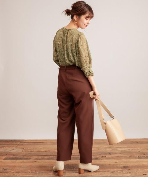 [natural couture] 美シルエットスラックスパンツMサイズ