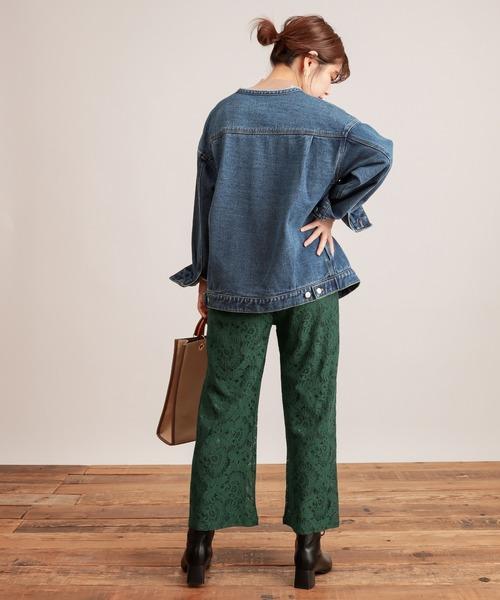 [natural couture] おしゃれレースパンツ