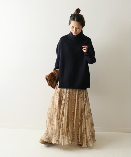 大阪|12月服装|マキシスカートコーデ