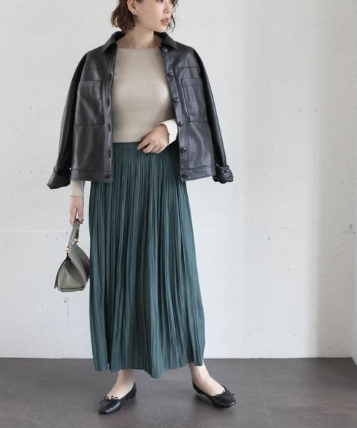 [URBAN RESEARCH ROSSO WOMEN] ロングランダムプリーツスカート