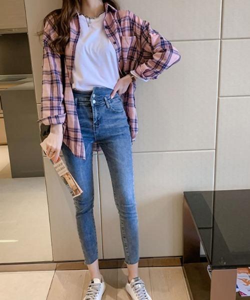[ABITOKYO] チェックシャツ