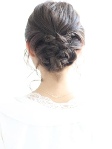浴衣×黒髪でおすすめの髪型・ミディアム3