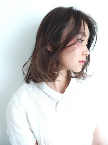 ミディアム×グラデーション【前髪なし】3