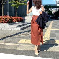 【エピセ毎日コーデ】大人女性におすすめ♡ラップスカートで大人のクラシカルな着こなしを(8/30コーデ)