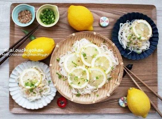 冷たいさっぱり麺レシピ!レモンそうめん