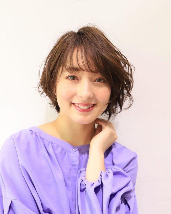 40代女性の髪型×パーマ【ボブ】3