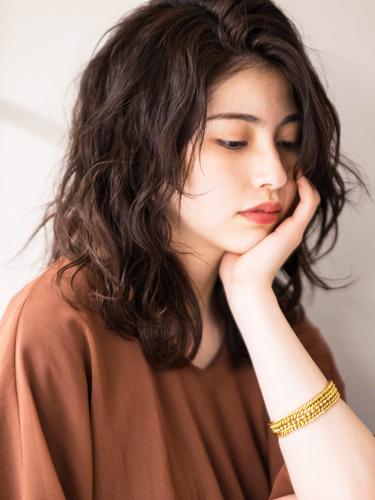 ミディアム×グラデーション【前髪なし】5