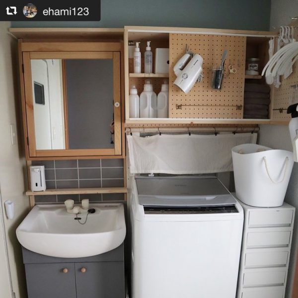 サブウェイタイルのインテリア実例《洗面・脱衣室》6