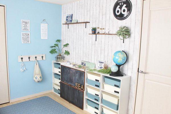ダイソーのスクエアボックス《子供部屋実例》