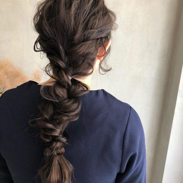 浴衣×黒髪でおすすめの髪型・ロング