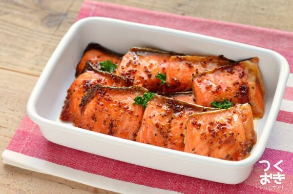 絶品オーブン料理!鮭のハニーマスタード焼き