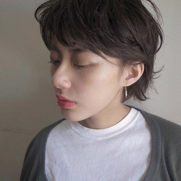 40代女性の髪型×パーマ【ショート】3