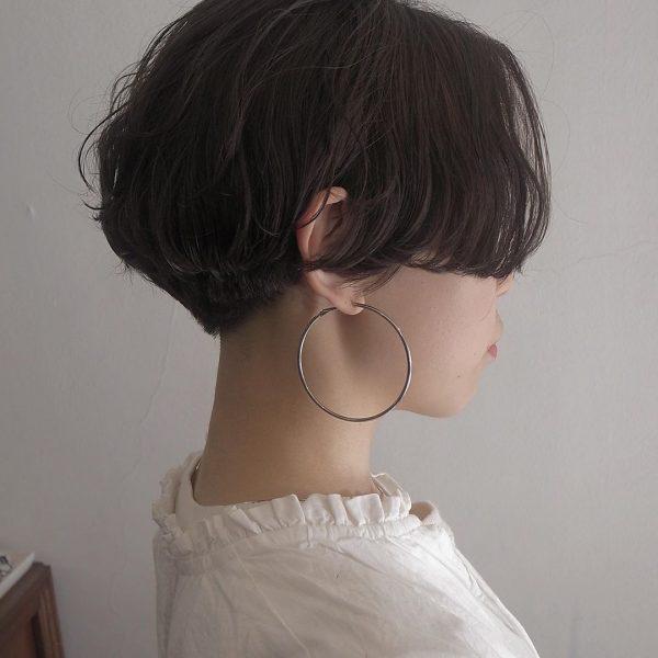 40代女性の髪型×パーマ【ショート】2