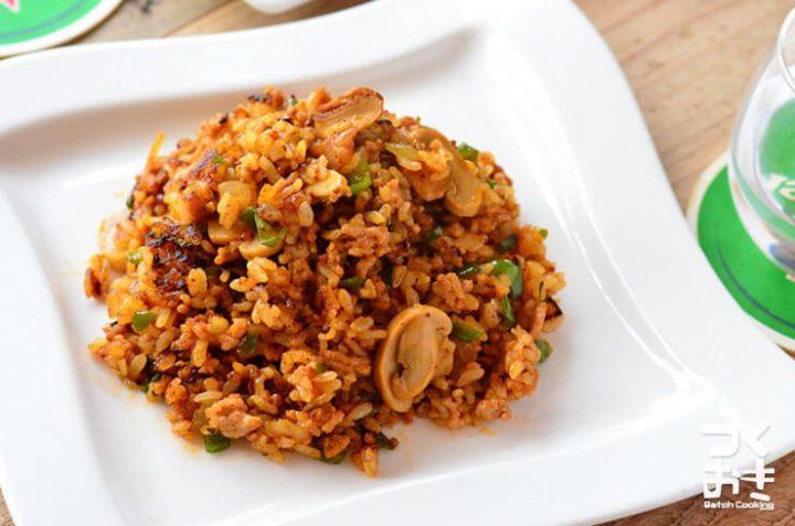 簡単で早いレシピ!ジャンバラヤ風炒めご飯
