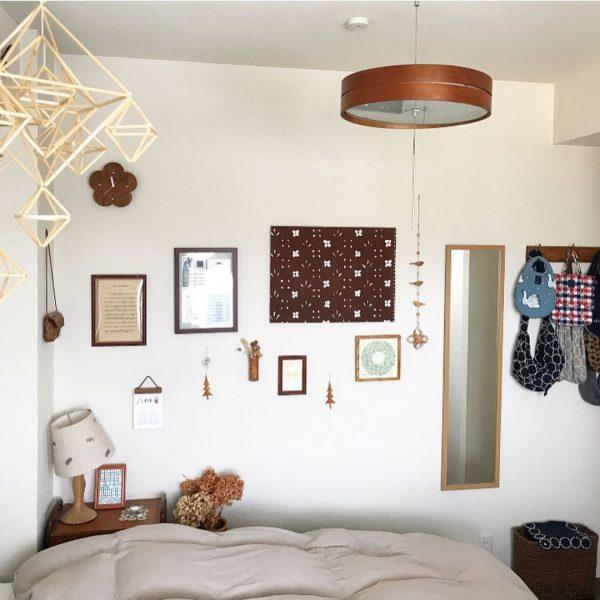 北欧寝室インテリア実例《暖色》2
