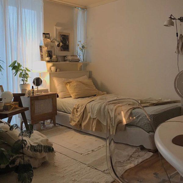 北欧寝室インテリア実例《暖色》3