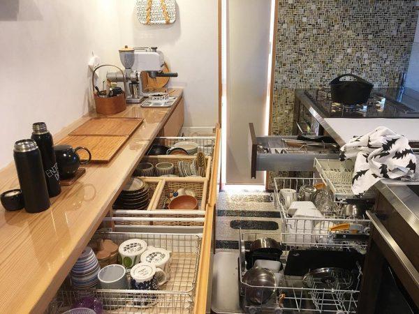 食器棚の引き出し収納《平置きアイデア》5