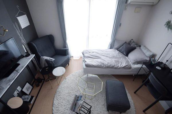 狭い可愛い部屋のアイデア 統一感