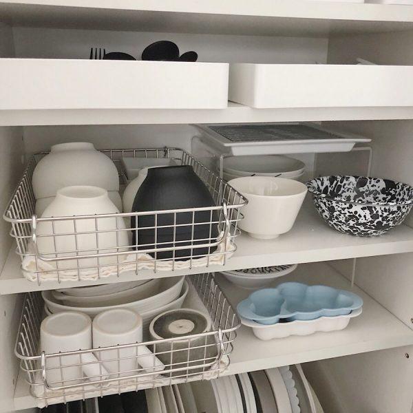 食器棚の引き出し収納《平置きアイデア》7