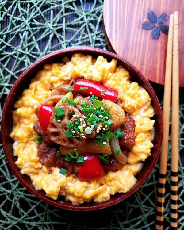 バルサミコ酢豚弁当