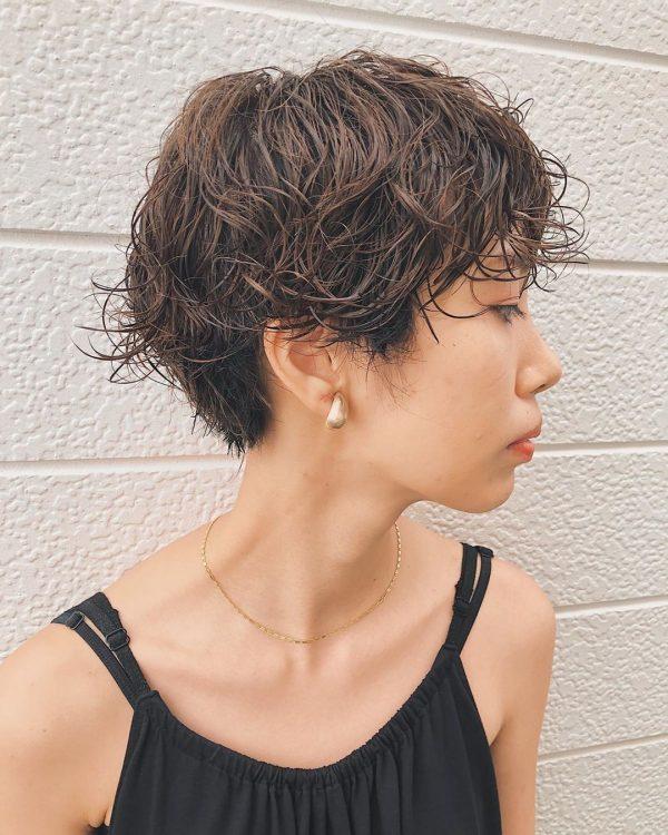 耳出しショートカットヘア【前髪あり】5