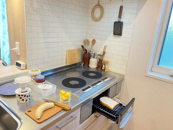 一人暮らし キッチン 収納4
