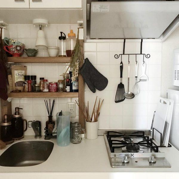 一人暮らし キッチン 収納10