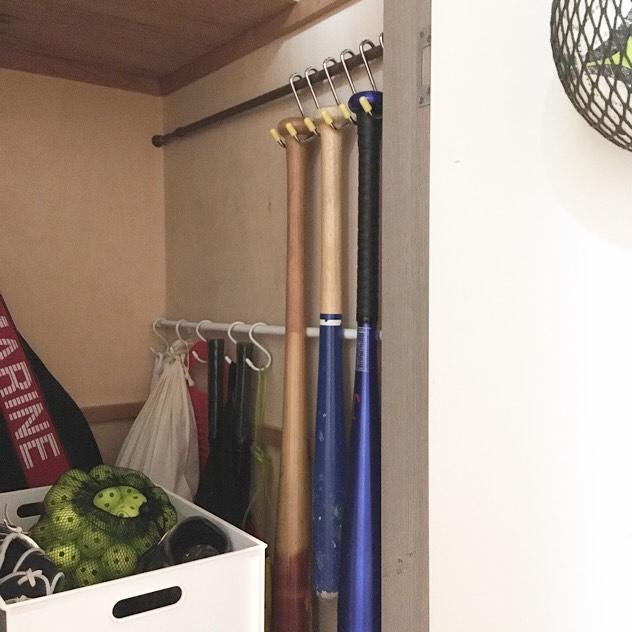 押入れの突っ張り棒DIY収納アイデア12