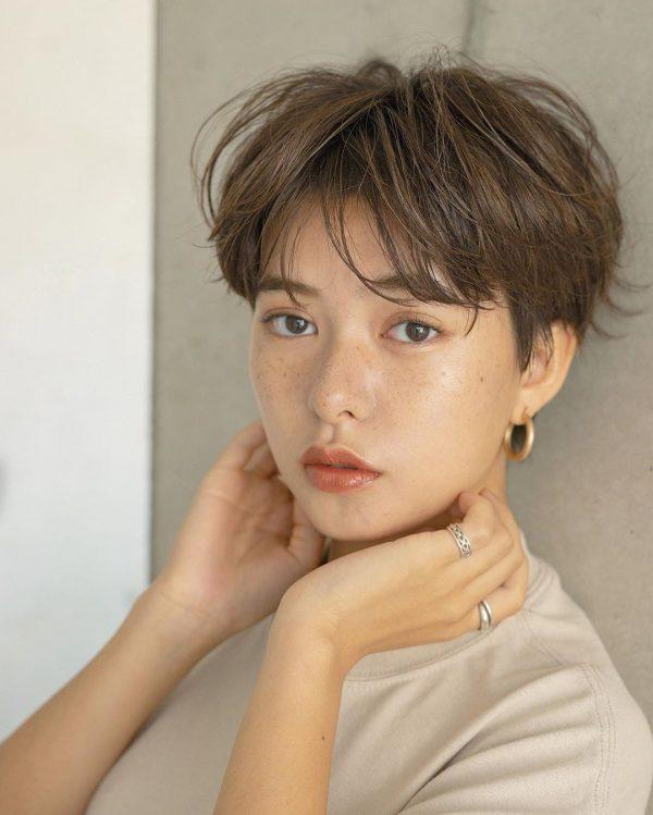 40代女性の髪型×パーマ【ショート】