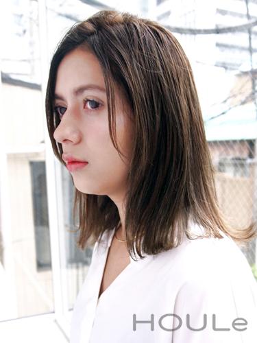 ミディアム×グラデーション【前髪なし】8